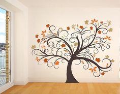 Bilderdepot24 - Adesivo murale Albero magico XXL albero: Dimensioni: 1,70m in larghezza x 1,20m in altezza - Prodotto di qualità direttamente dal produttore