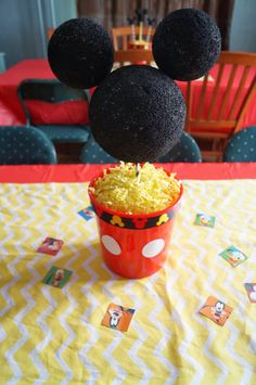 A Mickey Mouse Clubhouse Birthday! Part Decorations, Mickey Mouse… Mickey Mouse Clubhouse Birthday Party, Mickey Mouse 1st Birthday, Mickey Mouse Parties, Mickey Party, Baby 1st Birthday, Birthday Ideas, Mickey Mouse Table, Cousin Birthday, Elmo Birthday