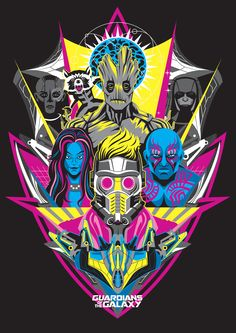 Guardians of the Galaxy by Chad Woodward – U.K. Neon Variant