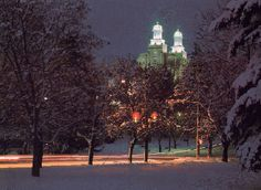 Sooo pretty!!!!  Logan temple in the winter....probably from Merrell Olsen park?