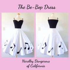 The Be-Bop ROCKABILLY Strappy Tank Style Dress by MoonbootStudios