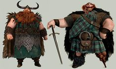 Look at how much King Fergus and Stoick the Vast look alike! Merida and Hiccup could totally be cousins!