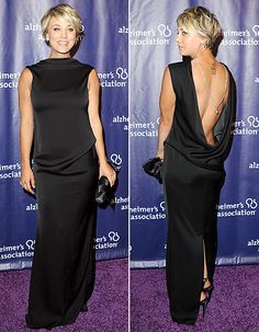 Kaley Cuoco Brings the Sexy in Open-Back Black Dress: Red Carpet Pics - Us Weekly