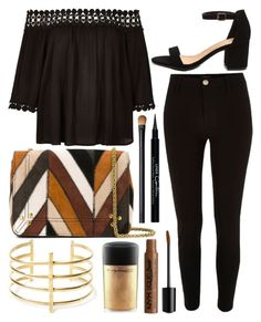 """""""Untitled #673"""" by daimy-style ❤ liked on Polyvore featuring River Island, Jérôme Dreyfuss, BauXo, MAC Cosmetics, NARS Cosmetics and Givenchy"""