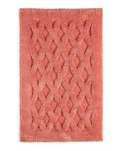 Kassatex Diamond Bath Rug, 20 x 31 Pink Sale, Just Peachy, Luxury Bath, Bath Accessories, Bath Towels, Neiman Marcus, Latex, Rugs, Diamond