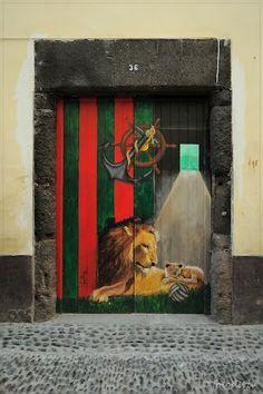 Santa Maria street, Funchal, Madeira, Portugal.