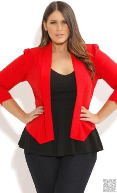 24. Red and #Peplum - Outfit #Inspiration for the #Perfect Office Looks ... → #Fashion #Office