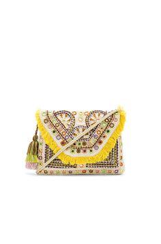 Antik Batik Kino Wallet in Cream & Yellow   REVOLVE