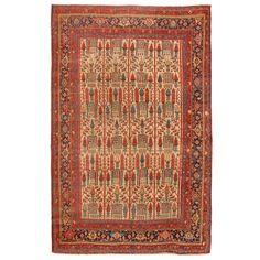 Antique Bidjar Carpet   See more antique and modern Persian Rugs at https://www.1stdibs.com/furniture/rugs-carpets/persian-rugs