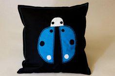 Happy Pillow- Blue LadyBug- handmade pillow  35x35 cm  Order at: happy_pillows@yahoo.com