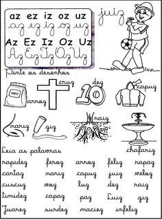 Portal do Professor do ensino Infantil: Leiturinhas de palavras com sílabas complexas IV A30, Too Cool For School, Homeschool, Classroom, Teaching, Words, Blog, Portal, Reading Activities