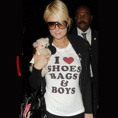 Paris Hilton – I Love Shoes, Bags & Boys T-shirt http://tshirtsonfilm.com/2014/12/paris-hilton-i-love-shoes-bags-boys-t-shirt/ #ParisHilton