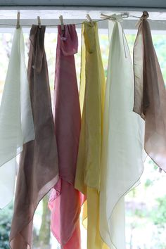 Naturally dyed silk with fennel, turkey tail mushroom, pokeweed berry, + goldenrod, inks+thread