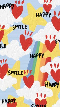 Cute Pastel Wallpaper, Happy Wallpaper, Soft Wallpaper, Painting Wallpaper, Kawaii Wallpaper, Cute Wallpaper Backgrounds, Wallpaper Iphone Cute, Pretty Wallpapers, Aesthetic Iphone Wallpaper