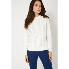 White Cable Knit 100% Cotton Jumper
