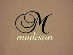 Custom Girls Name Monogram Bedroom Nursery by StickemUpCustoms, $18.50
