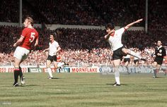 Football, 1977 FA Cup Final, Wembley, Manchester United 2 v Liverpool May Liverpool+s David Johnson shoots Get premium, high resolution news photos at Getty Images Fa Cup Final, Sites Like Youtube, Video Site, Manchester United, Liverpool, Finals, Documentaries, The Unit