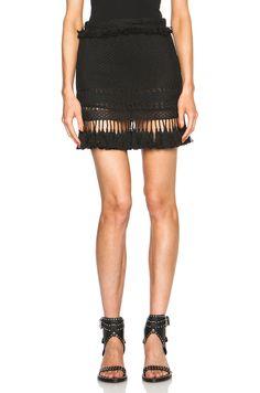 Image 1 of Isabel Marant Tifen Oceanic Fringes Skirt in Black