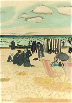 Maurice Brianchon (1899-1979)Plage à Carnac (by BoFransson)