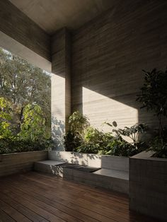 Image 13 of 60 from gallery of Polanco House / Studio Rick Joy. Photograph by Joe Fletcher Lobby Design, Building Aesthetic, Internal Courtyard, House Studio, Mexican Designs, Garden Office, Concrete Design, Architect House, Brutalist