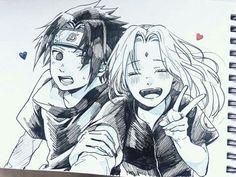 Sasuke and Sakura Sasuke Sakura Sarada, Naruto And Sasuke, Naruto Shippuden Anime, Boruto, Naruhina, Couple Naruto, Naruto Couples, Naruto Fan Art, Naruto Comic