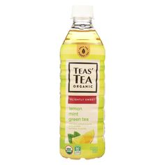Tea's Organic Green Tea - Lightly Sweet Lemon Mint - Case Of 12 - 16.9 Fl Oz.