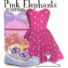 Pink Elephants, created by lalakay on Polyvore