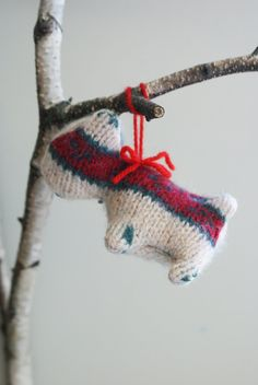 "Stuffed Scottie Dog Ornament, Approximately 4"", Wool. $16.00, via Etsy."