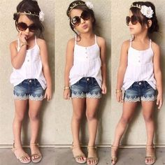 """SCARLET SHORT SET PRICE: $19.99 OPTIONS: 2/3T, 3/4T, 4/5, 6/7, 8, 9 To purchase: comment """"sold"""", size & email"""