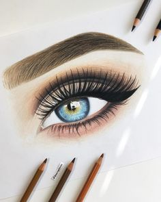 Drawn Lady Real Bunte Augenzeichnungen und Techniken mit Bleistift … Drawn Lady Real Colorful eye drawings and techniques with pencil … # drawings # Pencil Cool Eye Drawings, Realistic Eye Drawing, Pencil Art Drawings, Art Drawings Sketches, Colorful Drawings, Cartoon Drawings, Drawing Art, Drawing Ideas, Eyes Drawing Tumblr