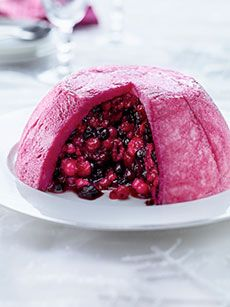 Summer berry pudding - with bread, jelly and berries of any type