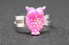 Hey, I found this really awesome Etsy listing at https://www.etsy.com/listing/569138496/owl-ring-pink-owl-ring-owl-lover-owl