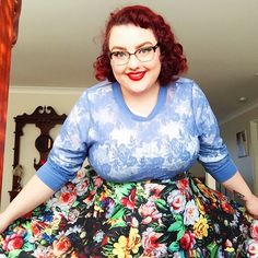 Very casual ootd from yesterday for a visit to the doctor. I've spent 90% of today asleep and I'm not even sorry. Jumper was thrifted, skirt is @modcloth  #modcloth #ootd #psootd #floral #effyourbeautystandards #motd #makeup #pinup #pinupgirl #pinupgram #plussizepinup #pinupgirlstyle #plussizefashion #plussizeclothing #fatbabe #fatshion #wetset #vscocam #vintagehair #vintagestyle #vintagehairstyle #50s #retro #redhair #redhead #rockabella #rockabilly #selfie