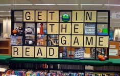 """Get in the Game. Read."" display"