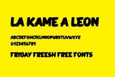 Friday Fresh Free Fonts - La Kame a Leon