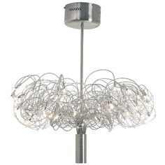 Eurolux - 40 Light Down Facing Wire Bodied Crystal Chandelier with Adjustable Stem Suspension Crystal Chandeliers, Downlights, Wire, Ceiling Lights, Crystals, Crystal, Outdoor Ceiling Lights, Ceiling Fixtures, Crystals Minerals