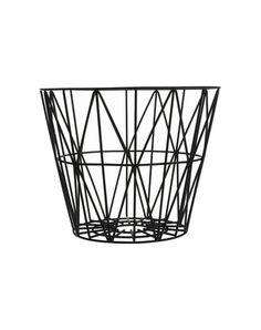 Ferm Living Black Basket / Home / Decor / Interior http://rstyle.me/n/vej4cbcukx