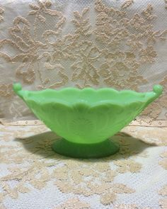 Jadite Jadeite green McKee comport from the depression era. by WPTaylorAAC on Etsy https://www.etsy.com/listing/222038338/jadite-jadeite-green-mckee-comport-from