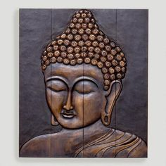 One look at this beautiful depiction of the blessed Buddha and your heart will be filled with peace. Hand carved by Indonesian artists on four separate pieces of wood and then connected, this Wood Buddha Face Wall Hanging features a distinctly rustic look. A serene addition to your living space, meditation room or any space where you like to unwind.
