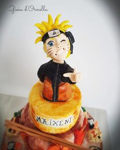 A cake-themed Naruto cartoon, sushi are coconut cakes filled with iced fruit Bolo Naruto, Naruto Birthday, Bithday Cake, 3d Cakes, Sugar Art, Cakes And More, Cake Cookies, Cake Designs, Dragon Ball Z