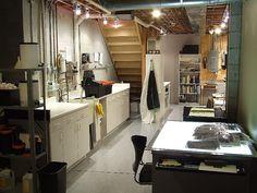 basement darkroom.