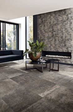 Precious ceramic Porcelain stone tiles for floor and wall: La Roche by Rex. #grey #stone #tile #home #design #ideas #italian #best