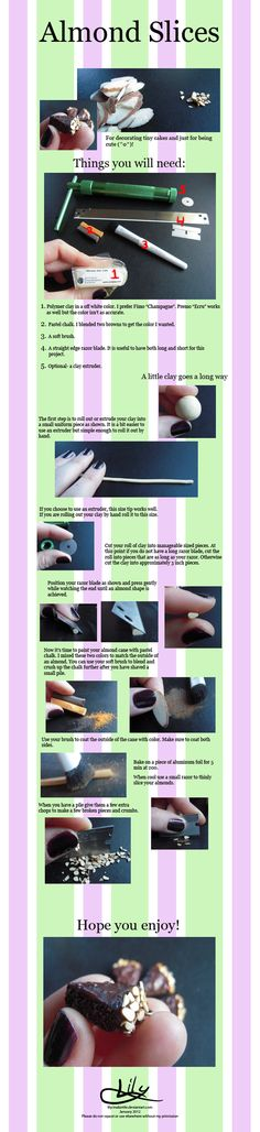 Polymer Almond Slices Tutorial by lily-inabottle on deviantART