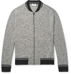CLUB MONACO  Mélange Jersey Zip-Up Sweatshirt