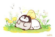 Pretty Art, Cute Art, Duck Memes, Cute Kawaii Drawings, Doodle Art, Cute Wallpapers, Art Reference, Cute Animals, Doodles