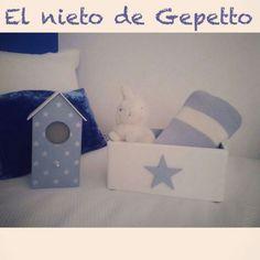 Casita pajaritos + caja estrella azul #elnietodeGepetto