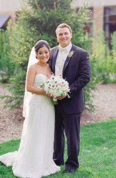 (Photo by Katherine Murray Photography) #blacktux #slimfit #springwedding #bride #groom