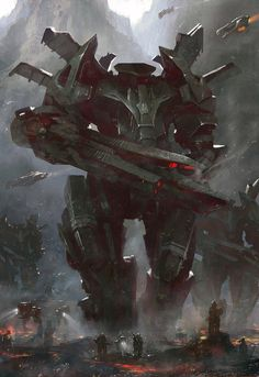 Sci-Fi Art: Mecha - Digital, Sci-fiCoolvibe – Digital Art Sci-Fi Art by Grosnez Illustrateur,: Arte Sci Fi, Sci Fi Art, Robot Concept Art, Armor Concept, Character Concept, Character Art, Character Design, Art Science Fiction, Sci Fi Kunst