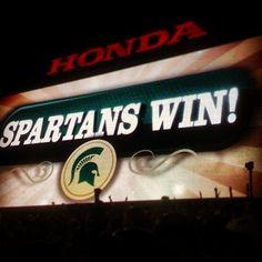 #spartans #win #rosebowl100 #msuroses #Pasadena #msu #michiganstate #msufootball #gogreen #victoryformsu #Padgram