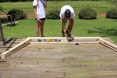 Picture of Assemble the Frame Backyard Hammock, Diy Hammock, Outdoor Hammock, Outdoor Decor, Diy Wood Bench, Wooden Pallet Furniture, Refurbished Furniture, Pallet Building, Building A Raised Garden